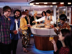 Cocktails on Emirates' A380