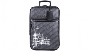 Dior Unveils New Dior Homme Dark Light Scribble Trolley Case