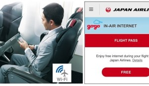 JAL Provides Free Inflight Internet Service on All Domestic Routes