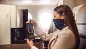 Etihad Offers Premium Travellers Snood-styled Facemasks
